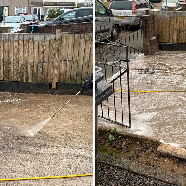 Concretebrick and Driveway cleaning